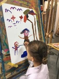Kunstles in het Koorenhuis